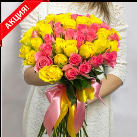 Букет 51 роза Bright Kenya