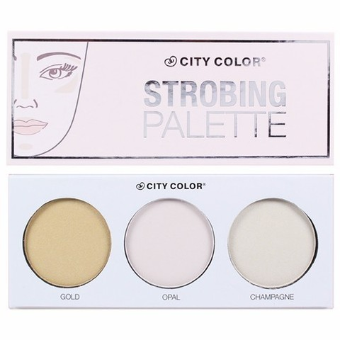 Палитра хайлайтеров CITY COLOR Strobing Palette