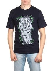 18716-2 футболка мужская, темно-синяя