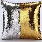 Декоративная подушка с пайетками Русалка
