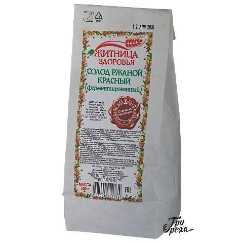 Солод ржаной красный (ферментированный) ЖИТНИЦА ЗДОРОВЬЯ, 500 гр