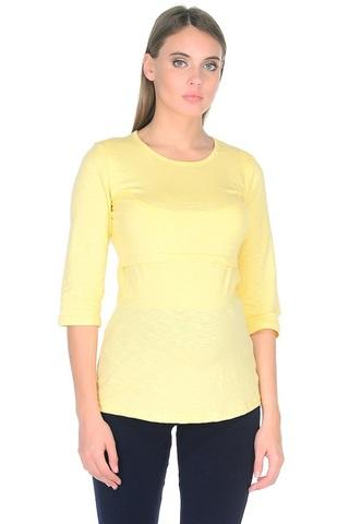 Лонгслив для беременных и кормящих 09907 желтый