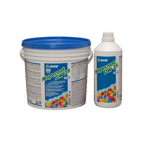 Mapei Mapecoat DW25/Мапей Мапекоат ДВ25 двухкомпонентная краска для создания покрытия бетонных поверхностей, которые контактируют с питьевой водой, пищевыми продуктами