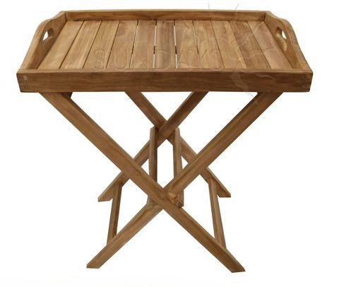 Садовый складной столик с лотком Sundays TGF-207, тик