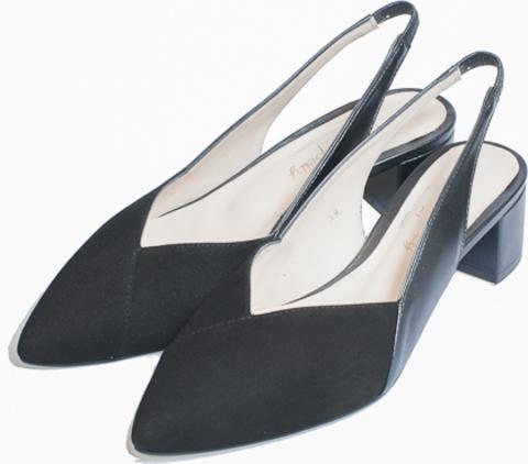 DERMA* Туфли открытые женские, замша черн  LUISA BELLY