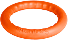 Игрушка для собак игровое кольцо для аппортировки d 28 оранжевое, PitchDog 30
