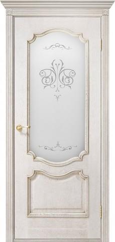 Дверь Двери Белоруссии Престиж ПО, цвет слоновая кость, остекленная