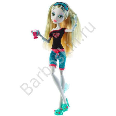 Кукла Monster High Лагуна Блю (Lagoona Blue) - Пижамная вечеринка или Смертельно уставшие