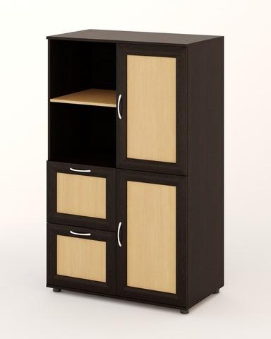 Шкаф ЛАНА-01-б рамочный венге / дуб беленый