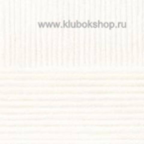 Пряжа Молодежная Пехорский текстиль Белый 01
