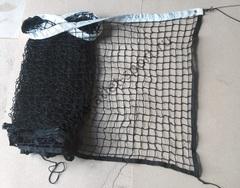 Сетка для большого тенниса ПРОФ d=3.0мм, черная с тросом
