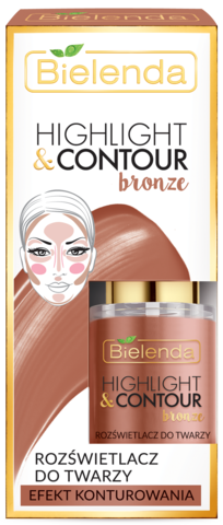 Хайлайтер HIGHLIGHT & CONTOUR для лица  BRONZE- медный 15мл