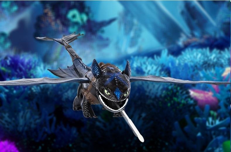 Как приручить дракона 3 игрушка Большой Беззубик, дышит огнем
