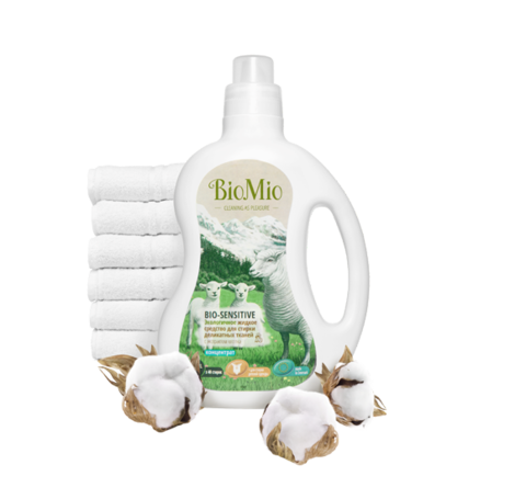 BIO MIO эко-средство жидкое для стирки деликатных тканей, без запаха 1,5л