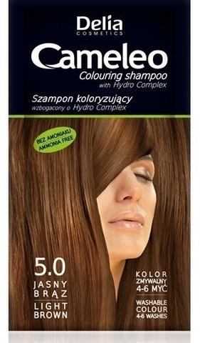 Delia Cosmetics Cameleo Оттеночный шампунь тон 5.0 светло-коричневый (саше 40мл)