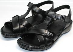 Летние босоножки без каблука Evromoda 15 Black.