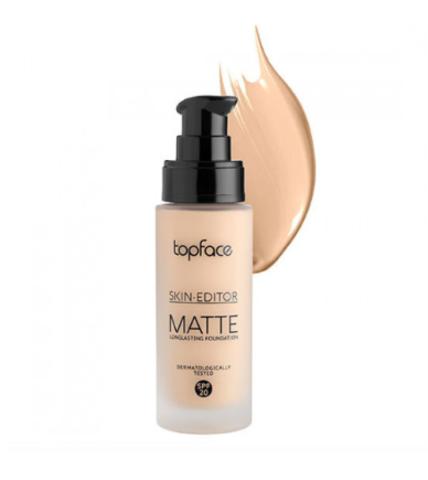 TopFace Тональная основа матовая Skin Editor Matte тон 05,бежевый  - PT465 (32мл)