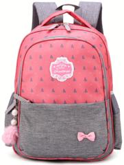 Рюкзак школьный Ziranu 0805 Розовый + Пенал
