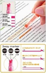 Текстовыделители Kokuyo Beetle Tip 3 Way (набор 5 шт.)