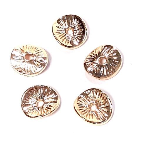 Рондель Чипс средний покрытие 24К 9 х 8 мм золото