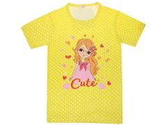 DLM11-71 футболка детская, желтая