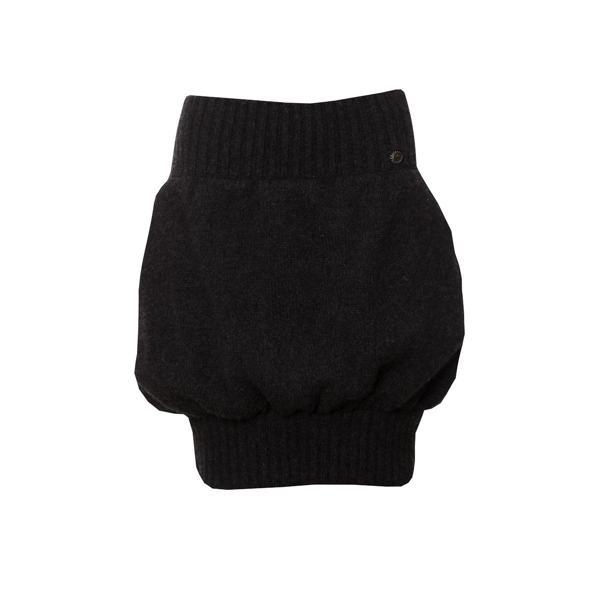Оригинальная трикотажная юбка из кашемира темно-серого цвета от Chanel, 34 размер.