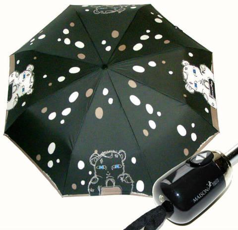 Купить онлайн Зонт складной Maison Perletti 16219-b Bear design в магазине Зонтофф.