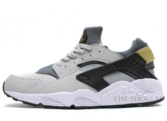 Кроссовки Мужские Nike Air Huarache Grey Black White