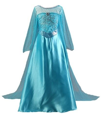 Холодное сердце платье Эльзы со шлейфом