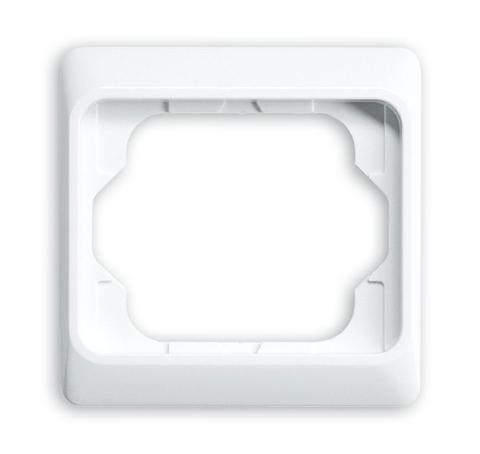 Рамка на 1 пост. Цвет Белый глянцевый. ABB(АББ). Alpha Exclusive(Альфа Эксклюзив). 1754-0-2965