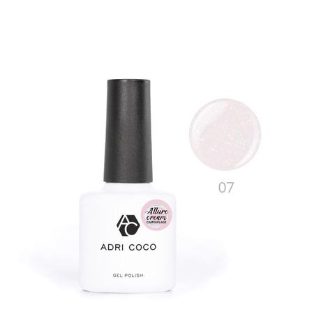 Гель-лак ADRICOCO Allure сream №07 камуфлирующий персиковый с шиммером (8 мл.)