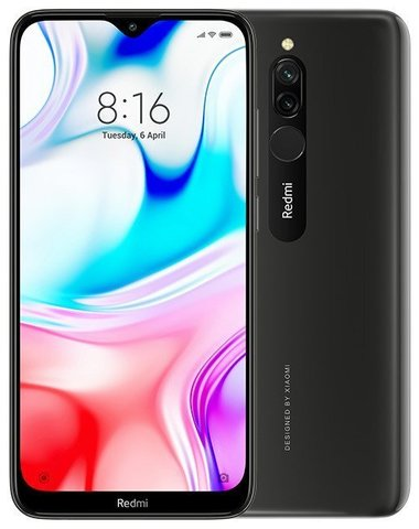 Смартфон Xiaomi Redmi 8  4/64Gb Black EU (Global Version)