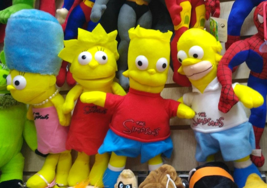 Мягкие игрушки семья Симпсоны
