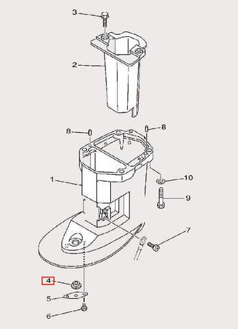 Шайба для лодочного мотора F9,9 Sea-PRO (23-4)