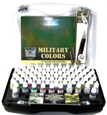 Model Color 72 Military colors + Brushes 17 ml.