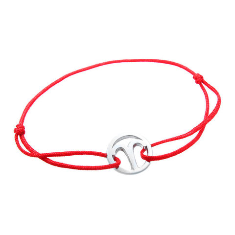 Серебряный браслет нить знак зодиака