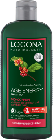 LOGONA Шампунь для укрепления волос с Био-Кофеином 250мл (LOGONA)