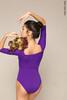Купальник 2 Рукава colour | фиолетовый