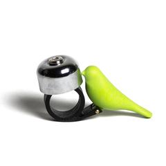 Звонок велосипедный Bird, зеленый Qualy