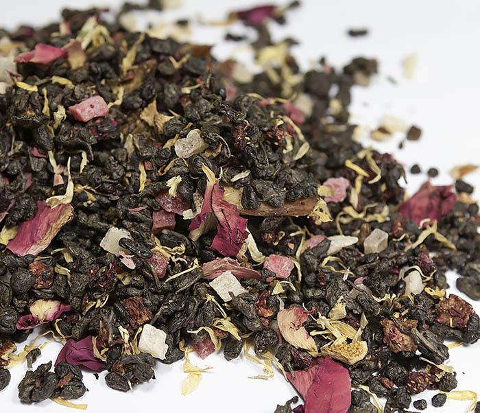 TEA-AR115 Зеленый ароматизированный чай «Король Джунглей», ганпаудер (50 гр) фото 01