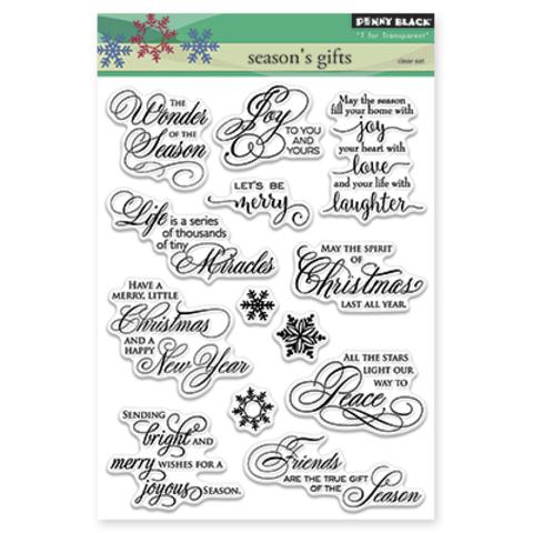 Набор штампов season's gifts