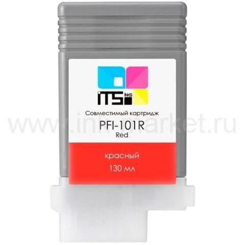 Совместимый картридж PFI-101R для Canon imagePROGRAF 5100/6100/6200 Red Pigment, 130 мл (М0000004026)