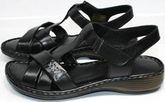 Женские босоножки из натуральной кожи Evromoda 15 Black.
