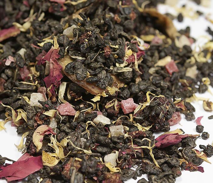 TEA-AR115 Зеленый ароматизированный чай «Король Джунглей», ганпаудер (50 гр) фото 02