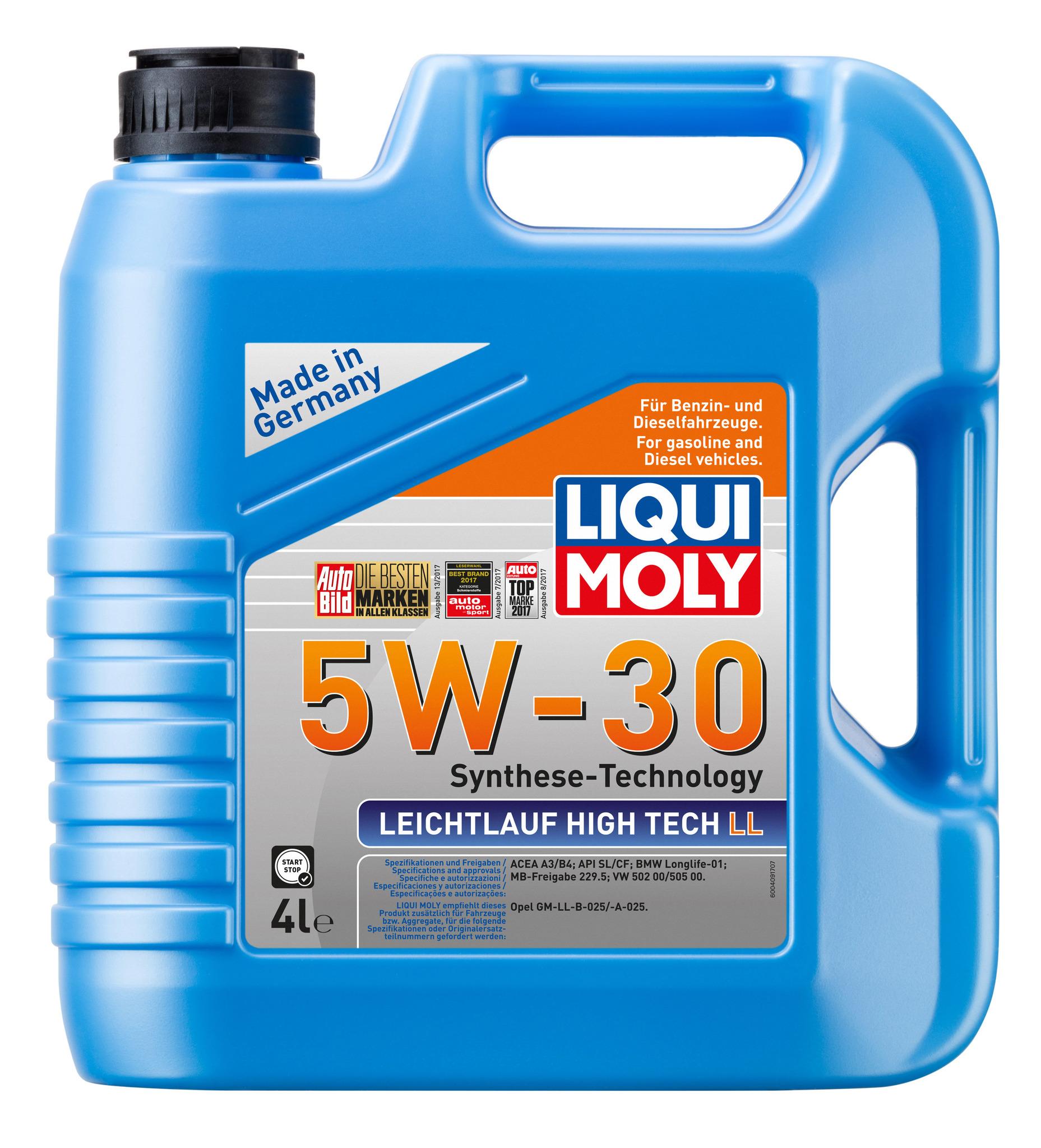 Liqui Moly Leichtlauf High Tech LL 5W30 НС синтетическое моторное масло