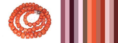 примерная цветовая палитра для одежды под бусы из коралла