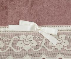 Полотенце 110х150 Old Florence Buratto розовое