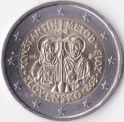 Словакия 2 евро 2013 Кирилл и Мефодий
