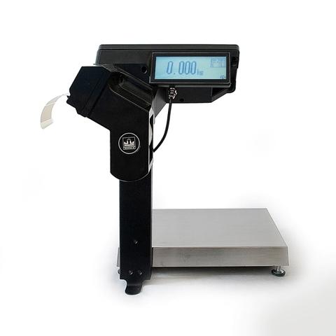Весы с печатью этикеток Масса-К MK-R2P10-1 с устройством подмостки и со вторым дисплеем