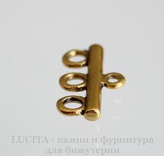 Коннектор (1-3) 22х11 мм (цвет - античное золото)